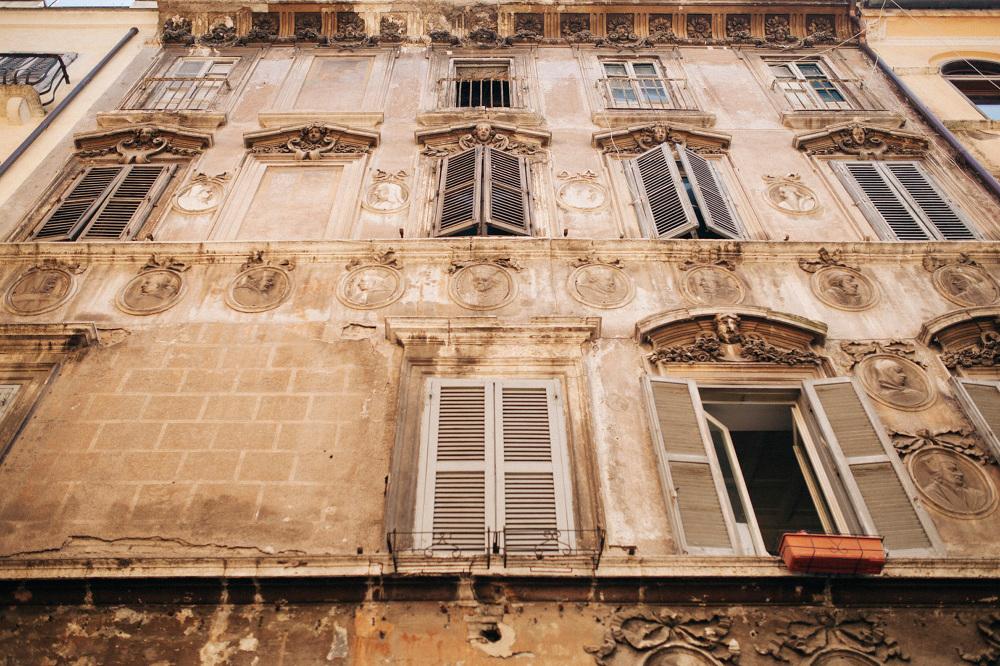 wall building italy window photo baroque
