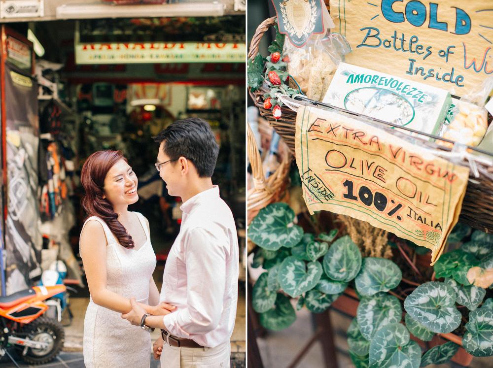 italy south market photo destination engagement couple portrait