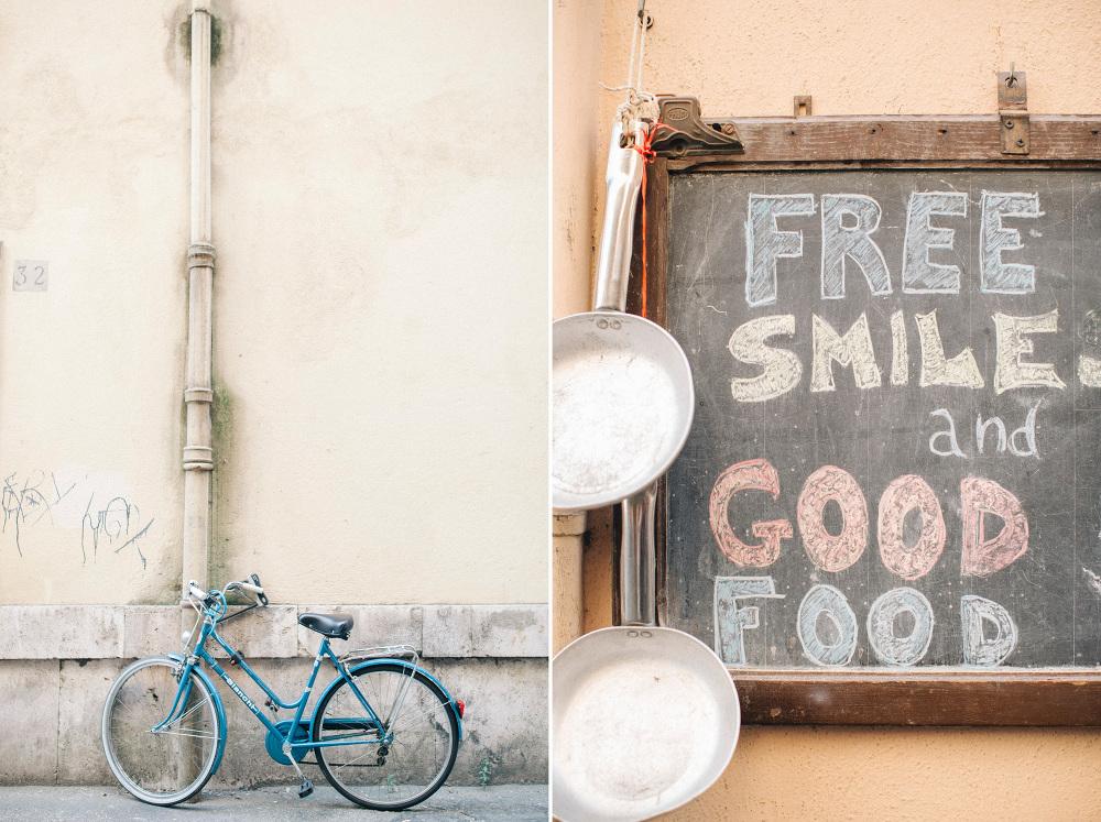 bike free smile photo black board street italy south
