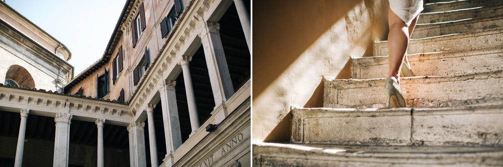 chiostro bramante engagement picture destination photo photograp