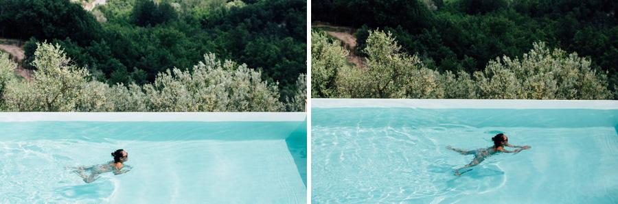 swimming pool vicchiomaggio wedding