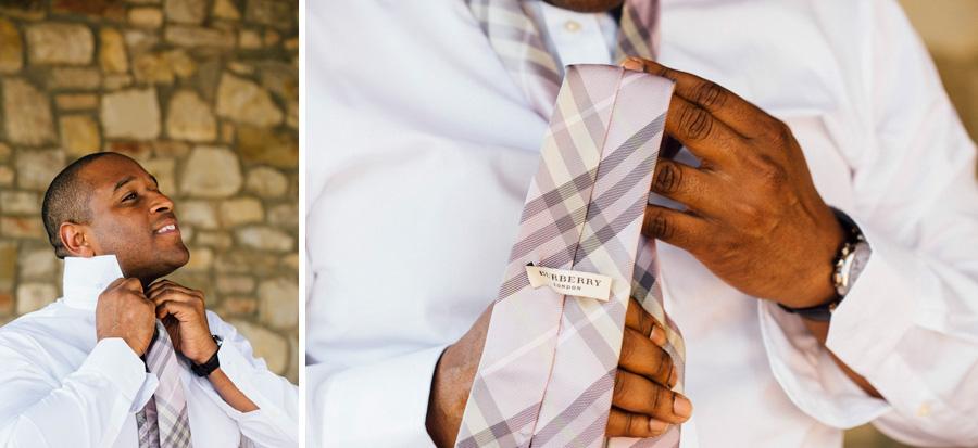 tie burberry wedding tuscany groom