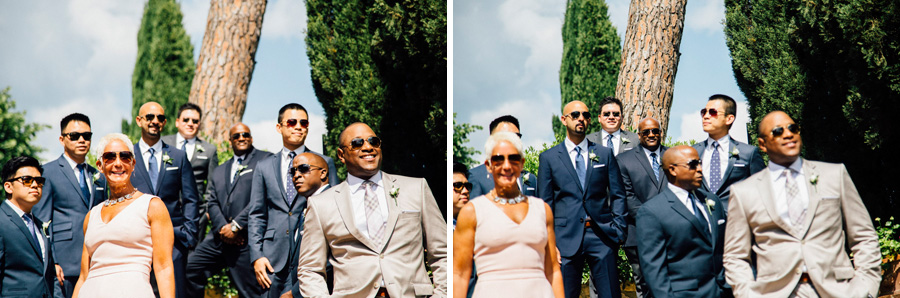 grrom group pictures witnesses wedding tuscany