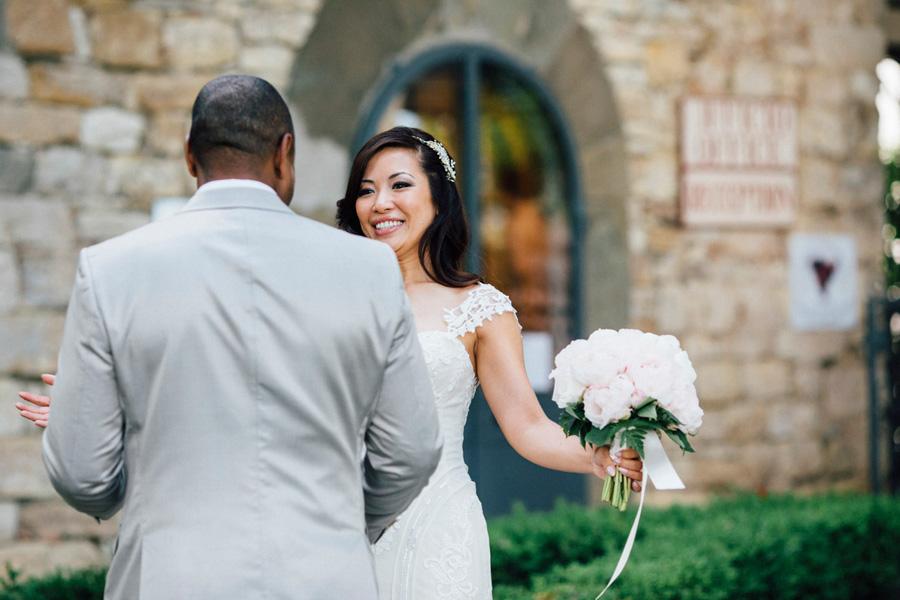 first look tuscany destination vicchiomaggio bride groom love