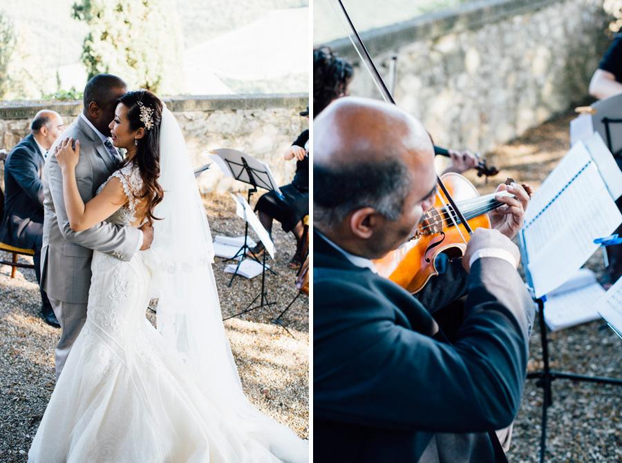 bride groom music orchestra destination wedding tuscany love ine