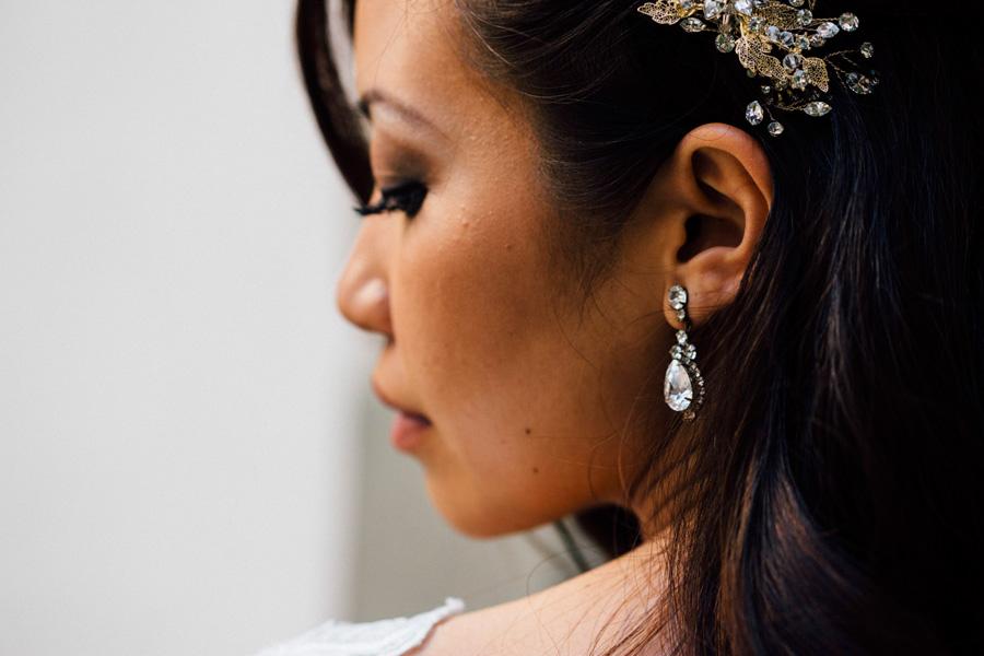 bride portrait face rings ear profile photo wedding tuscany cast