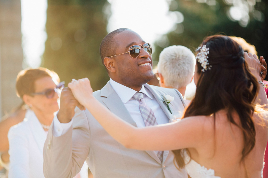 groom police rayban flare sun destination wedding italy bride mu