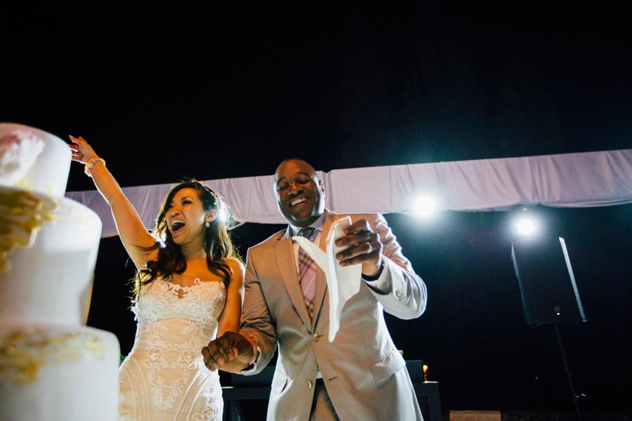 bride groom party night wedding italy destination