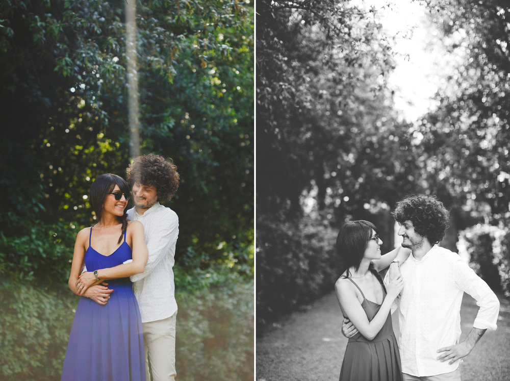 couple engagement nature wood light sun kiss love bw photo photo