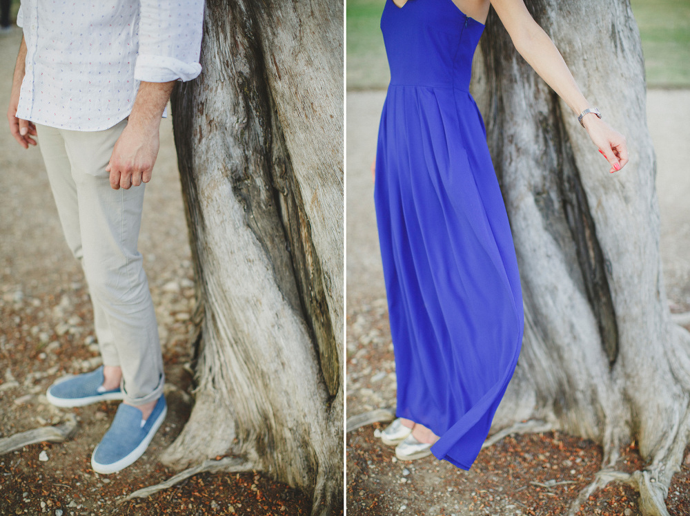 couple details nature tree outfit dress blu