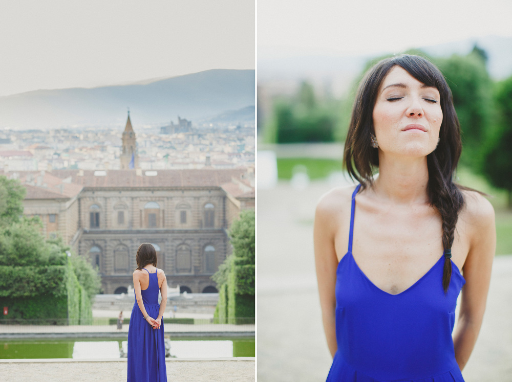 garden florence portrait landscape gardens engagement girl photo