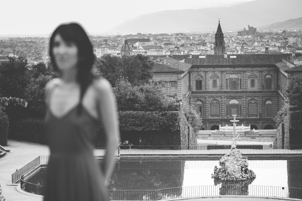 florence bw view girl city tuscany photography pake gardens pitt