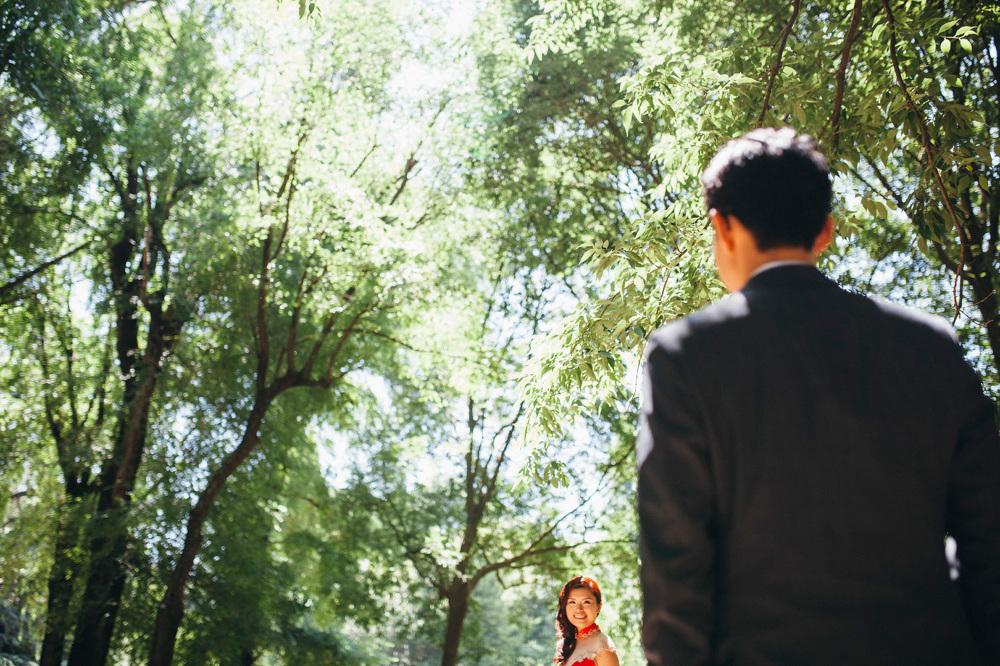 engagement destination red dress park nature couple love stefano