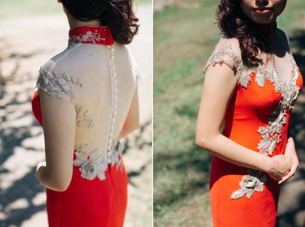 red chinese wedding destination dress detail photographer stefan