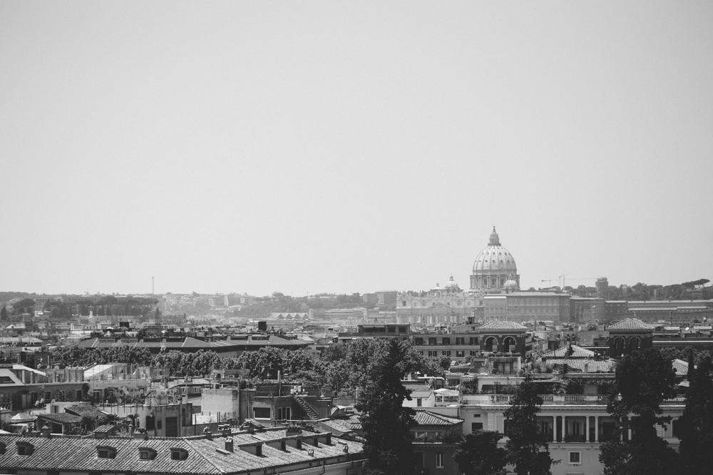 rome vatican lanscape photo black white bw photography sky pictu