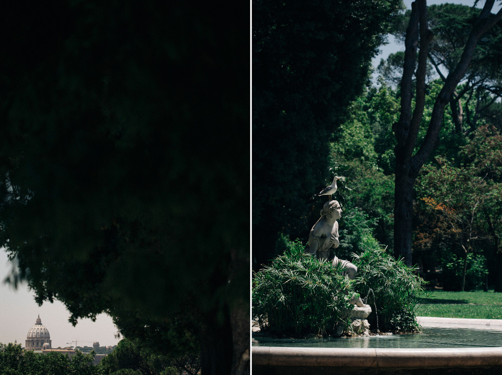 detail vatican photo fountain villa borghese dome