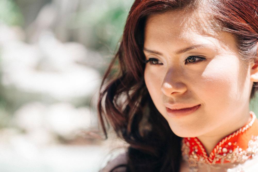 portrait bride red dress chinese photographer destination stefan