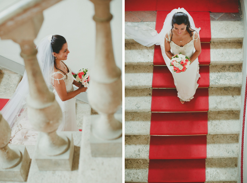 destination wedding photographer tuscany villa italy  bride red