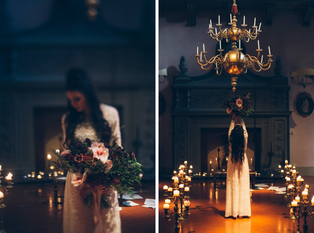 dark bride groom editorial inspirational styling violin stefano