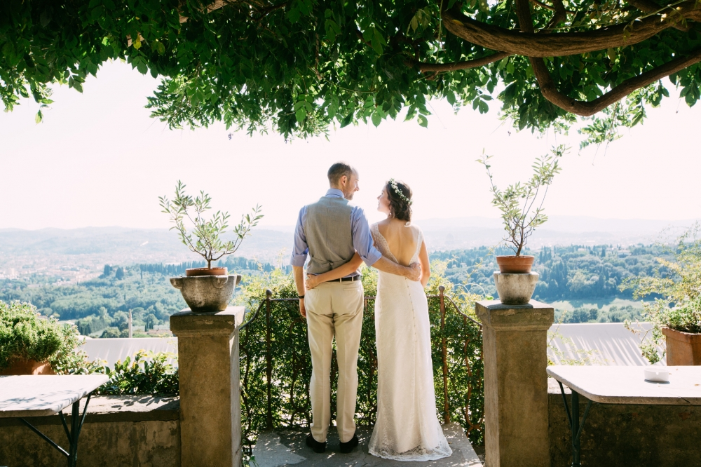 bride groom terarace moment destination wedding italy florence t