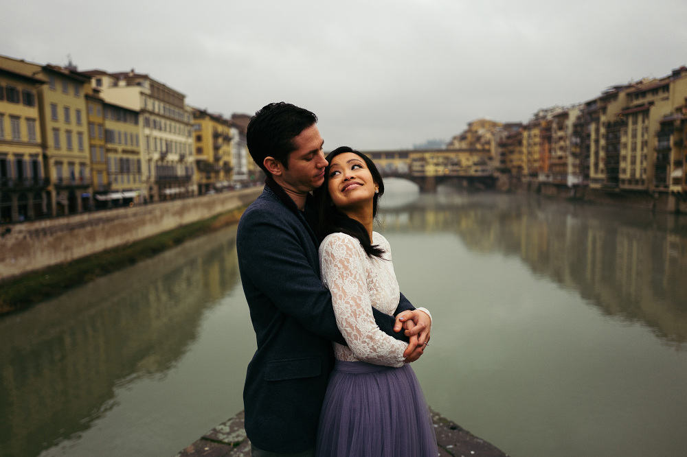 engagement uffizi city urban romantic winter love photo session