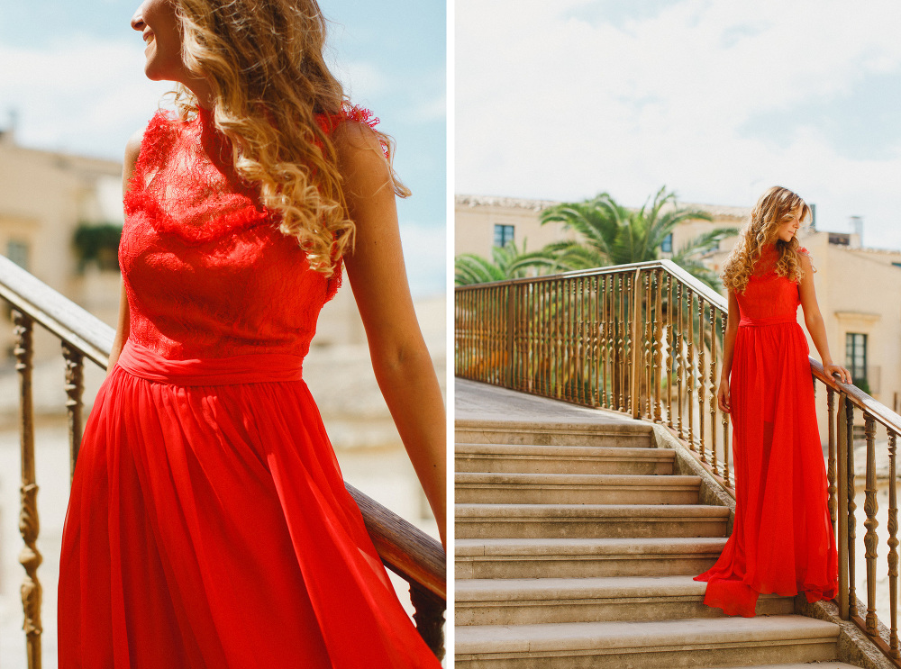 sicily noto wedding photographer anna fuca atelier dress summer