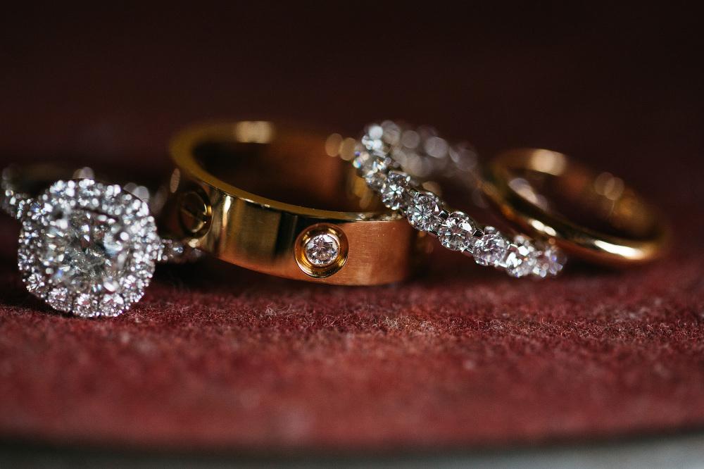 wedding rings macro jewels photo