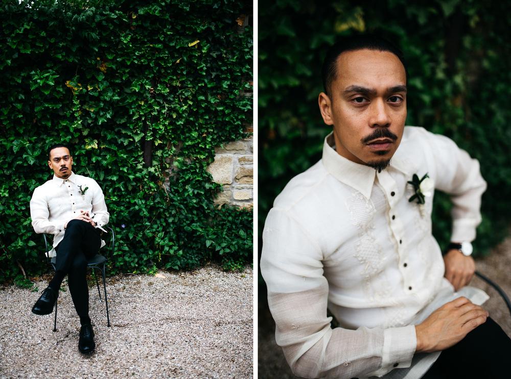 mr_aznar photo photographer wedding cortona italy groom waiting