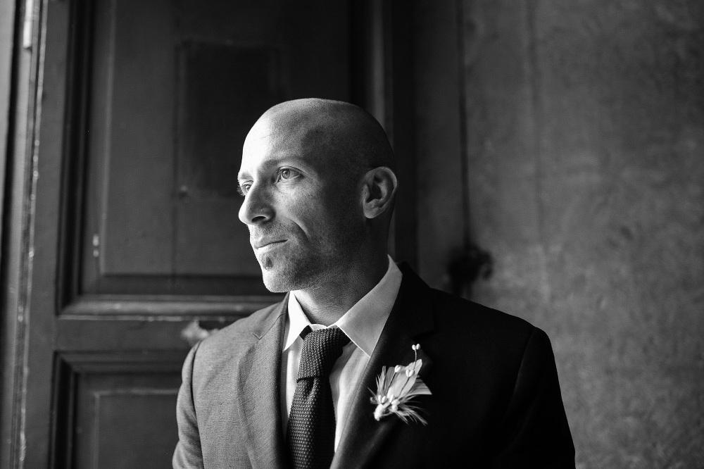 groom waiting bride santa costanza church portrait photographer