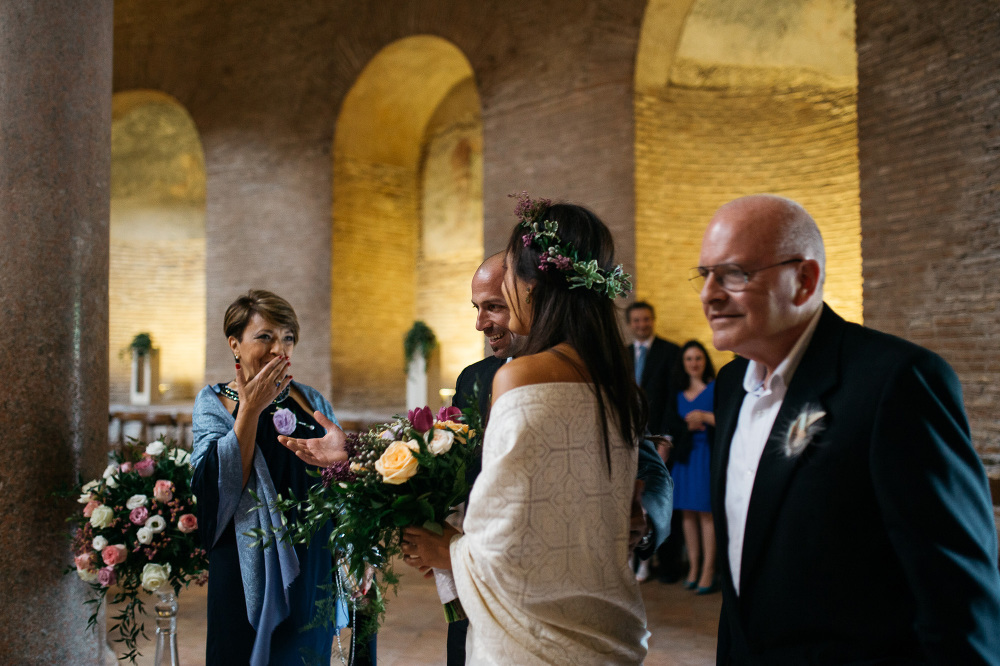 groom first look bride santa costanza church portrait photograph