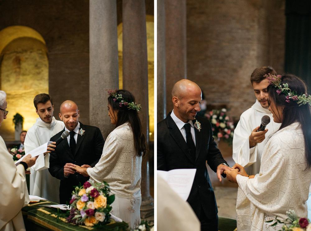 bride groom rings wedding ceremony promises married santa costan