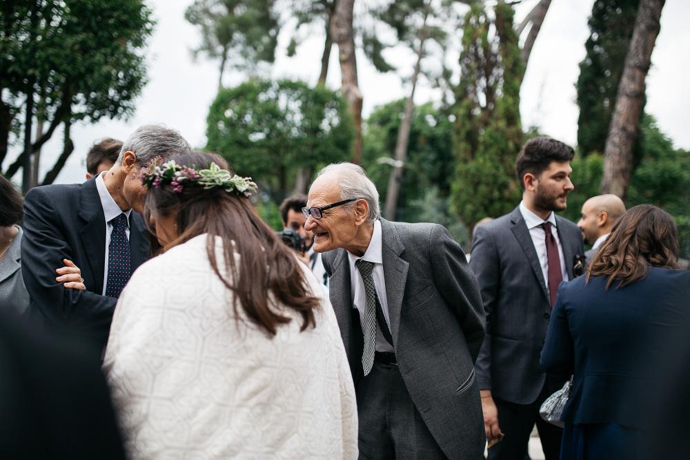 bride groom santa costanza church rome italy photo guests old ma