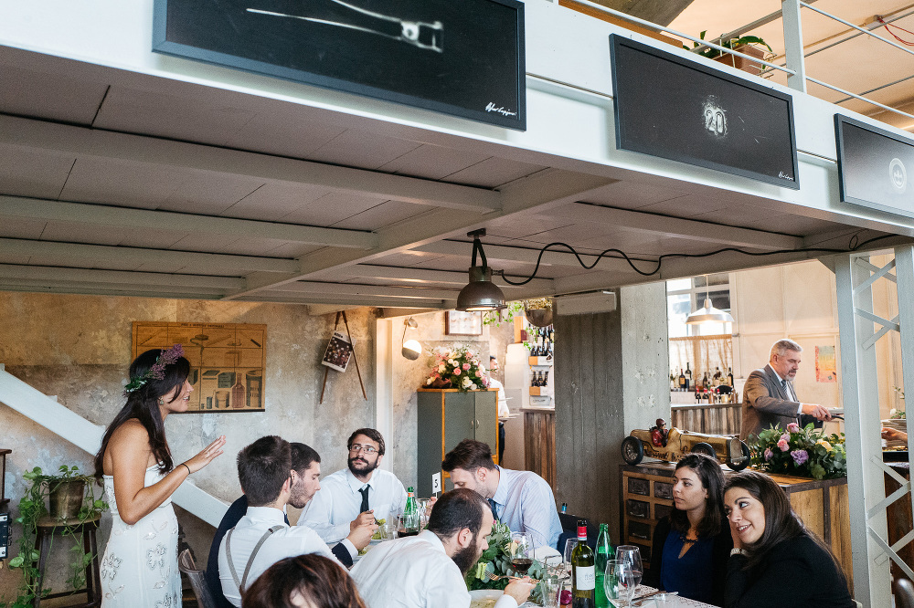 lanificio industrial chic wedding lunch details rome photo italy