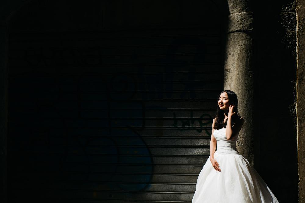 asian bride portrait smile love florence firenze tuscany photo p