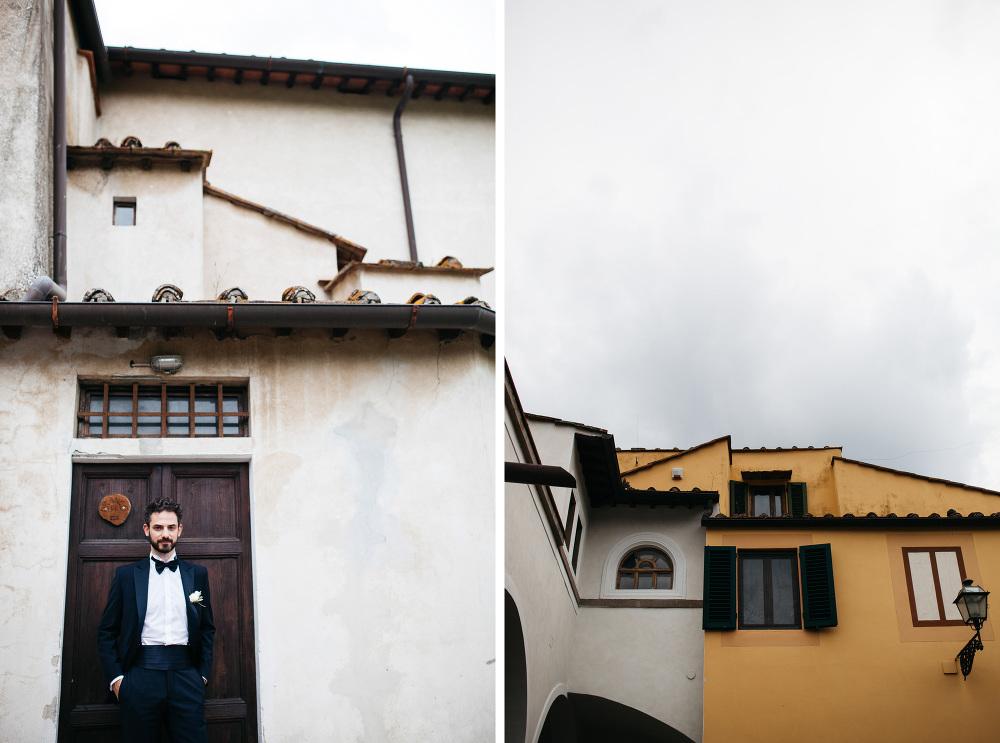 wedding photographer fiesole tuscany photo groom detail suit por