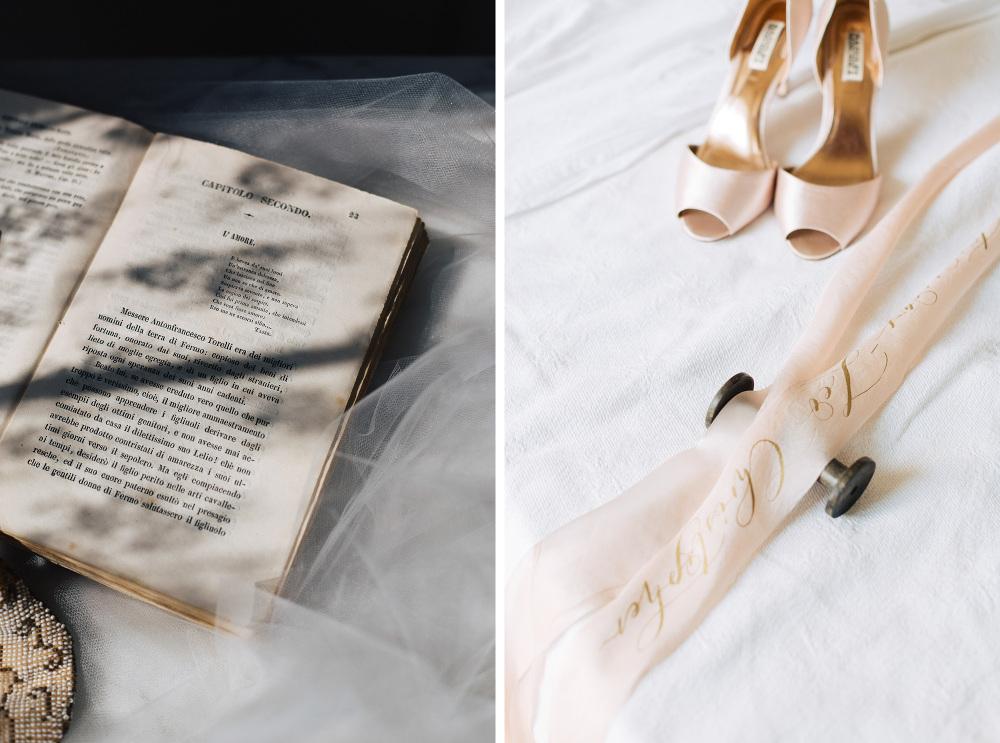 wedding photographer siena destination tuscany italy photo shoes detail