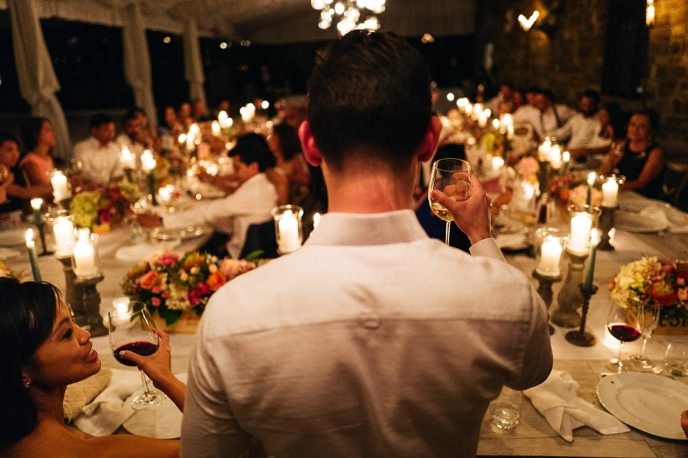 leicaq leica q tuscany wedding photo destination toast groom din
